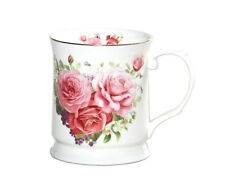 Fine Bone China Ceramic English Rose Coffee Tea Cup  Mug - 415cc