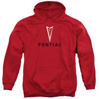 Pontiac CENTERED ARROWHEAD Licensed Adult Sweatshirt Hoodie