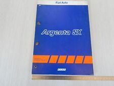 RARO: MANUALE ORIGINALE ASSISTENZA TECNICA FIAT ARGENTA SX VOLUMEX 1984