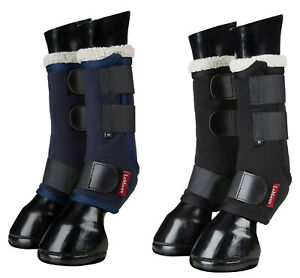 LeMieux FOUR SEASONS Wicking Stable Travel Protective LEG WRAPS Navy/Black