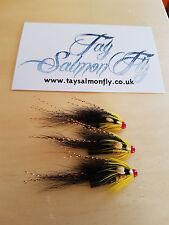 "3x Gledswood Shrimp Copper Tube 1/2"" Salmon Flies"