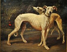 Two Greyhound Dogs 1850 by Louis Godefroy Jadin 10x8 Inch Print