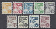 More details for  colombia  1950 air  post  lansa  domestic  set of 9   m.l.h. sg 1/9 sc c166/174