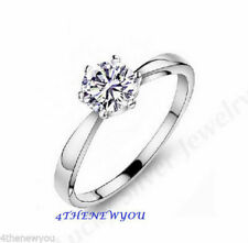 Zircon Sterling Silver Engagement Fine Rings