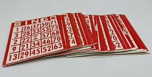 35 Double-Sided Bingo Cards Original Parts 1993 Cardinal Bingo Game Premier Ed