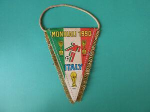 VINTAGE ITALY INTERNATIONAL TEAM MUNDIAL 1990 SOCCER SMALL FLAG
