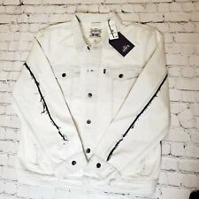 Levi's Made & Crafted Type 3 Trucker Jacket Size XL Bleached Denim White