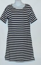 L.O.G.G. H&M Ladies Short Sleeve Striped Dress Black & White Small (S) NWT