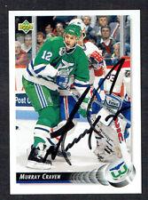 Murray Craven #49 signed autograph auto 1992-93 Upper Deck Hockey Card