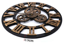 Large Retro Wall Clock Big Art Gear Design 45cm / 17.7 Inch ideal gift