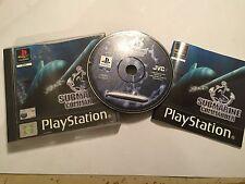 PS1 Playstation 1 Psone sous SIM Game sous-marin commandant + box & Instructions PAL