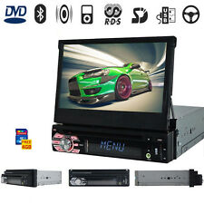 """7"""" Single 1 Din Car Stereo In Dash GPS Navigation Touch Screen DVD MP3 Player qw"""