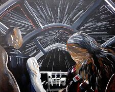 Star Wars: Hans Solo meets Chewbacca print by Ashlee Cipolla