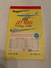 Vintage Hytone Jet Mail Writing Tablet Pan Am Jet