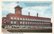 PA postcard York 20th Century Tooth Factory Dentist Supply Co Artificial Teeth