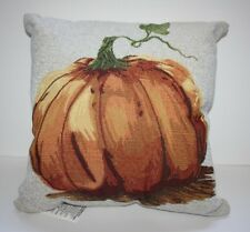 "Cinderella Pumpkin Embroidered 18"" Decoration PILLOW Fall Thanksgiving Halloween"