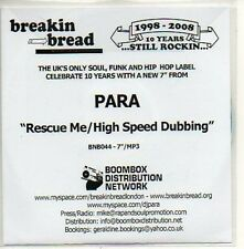 (669D) Para, Rescue Me / High Speed Dubbing - DJ CD