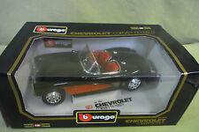 Bburago Diamonds - Chevrolet Corvette - 1957 - cod. 3034 - Schwarz - OVP - 1:18