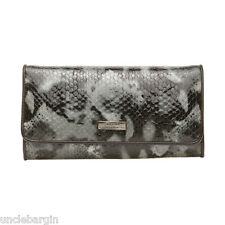Serenade Ebony Snake Genuine Large Leather Wallet (WH46-15)