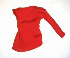 Barbie Fashion Red Shirt Top For Barbie Dolls fn302