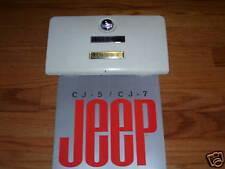 CJ Laredo emblem, laredo glove box emblem