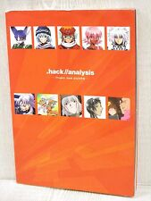.Hack / Analysis Project Settei Shiryoshu Art Book Game Sb54*