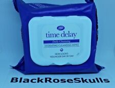 Time Delay Daily Hydrating Cleansing 1x25 Wipes Skin/Care/Boots/Facial/Face/NEW