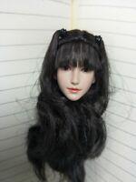 1/6 SUPER DUCK SDH015A Pale Black Hair Head F 12'' Phicen Body Figure