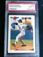PEDRO MARTINEZ RC 992 BOWMAN ROOKIE #82 PSA 9 MINT! HOF DODGERS HOT!!!