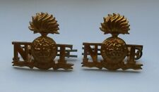 2ww pair of  collar badges of the royal northumberland fusiliers