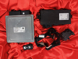 BMW E90 E91 E60 E61 3 5'ies 2.5i 3.0i N52 ENGINE ECU SET DME MSV70 CAS3 KEY LOCK