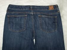 Womens American Eagle Outfitters Boy Fit 8R Blue Denim Jeans Distressed EUC
