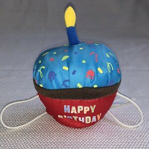 Build a Bear Plush Cupcake Accessory - Happy Birthday Cupcake with Candle - BABW