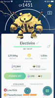 Pokemon Go - GREAT LEAGUE 1500CP PVP - Electivire Legacy-with double charge move
