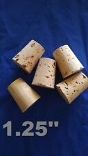 CORK stopper plug round tapered style crafts fishing lab wine all natural*1-1/4*