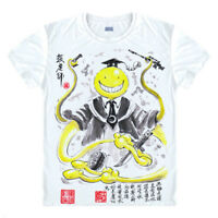 Anime Assassination Classroom Casual T-shirt Short Sleeve Unisex Tops Ink style