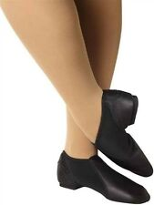 Leo's 7148 Adult Size 6.5M (Fits 5) Black Split Sole Contour Slip-On Jazz Boot