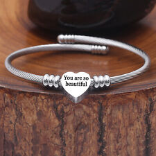 1pc Infinity Love Mom Bracelet Charm Anklet Heart Mothers Day Gift Jewelry Brown