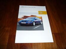 Opel Astra Coupe Linea Blu Prospekt 10/2002