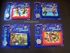 Super Mario Wrist Watch & Wallet Purse Set. Choose from 4 stock levels permittin