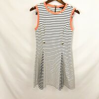 TED BAKER LONDON Sleeveless Dress Black And white Striped  SZ 2/ US 6
