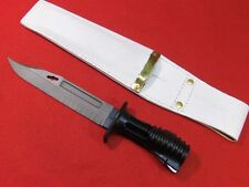ORIGINAL BRITISH L3A1 SA80 RIFLE KNIFE  BAYONET & LEATHER DRESS SCABBARD