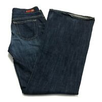 AG Adriano Goldschmied Womens 29R The Mona Wide Leg Flare 100% Cotton Blue Jeans