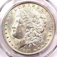 1891-CC Morgan Silver Dollar $1 - Certified PCGS MS60 (UNC) - Carson City Coin!