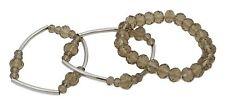 Zest Set di 3 colori Sfaccettato perline bracciali STRETCH MARRONE