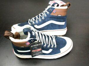 Vans Men's Sk8-Hi Mte 2.0 Dx All Weather Boots Dress Blues Marshmallow Size 8.5