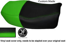LIGHT GREEN BLACK VINYL CUSTOM FOR 91-99 KAWASAKI ZR 750 ZEPHYR DUAL SEAT COVER
