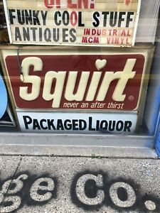 Large Vintage Squirt Sign 4ft X 3ft