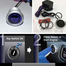 Blue Car SUV Engine Start Push Button Auto Switch Ignition Starter Touch Kit 12V