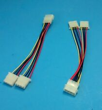 NEW 2-PACK Internal Power Supply 4Pin Y Adapter Cable,Molex PC Peripheral Plug